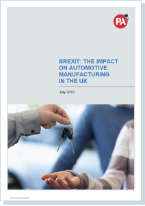 Managing through the Brexit automotive sector - report July 2016