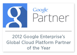 2012 Google Enterprise's Global Cloud Platform Partner of the Year