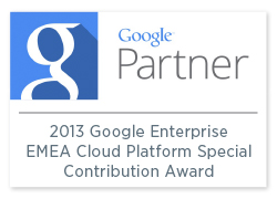 2013 Google Enterprise EMEA Cloud Platform Special Contribution Award